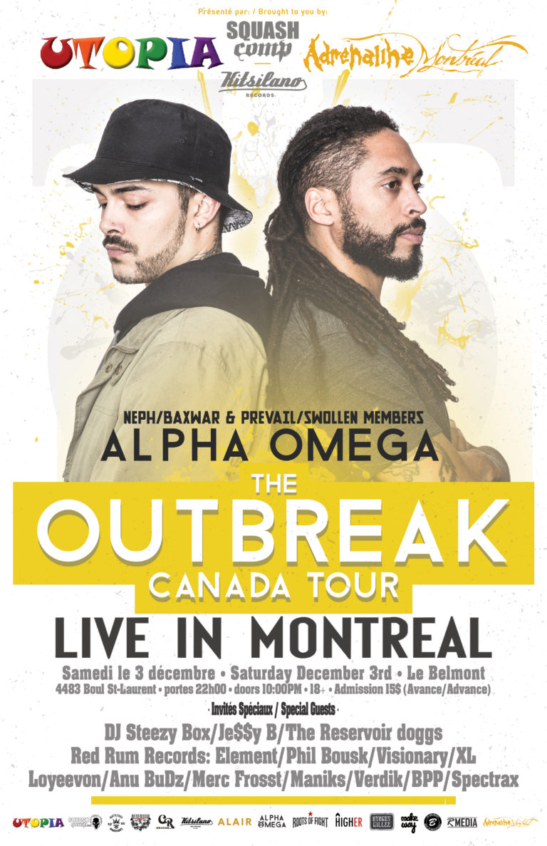 ALPHA AND OMEGA (NEPH OF BAXWAR AND PREVAIL OF SWOLLEN MEMBERS) LIVE À MONTRÉAL Show