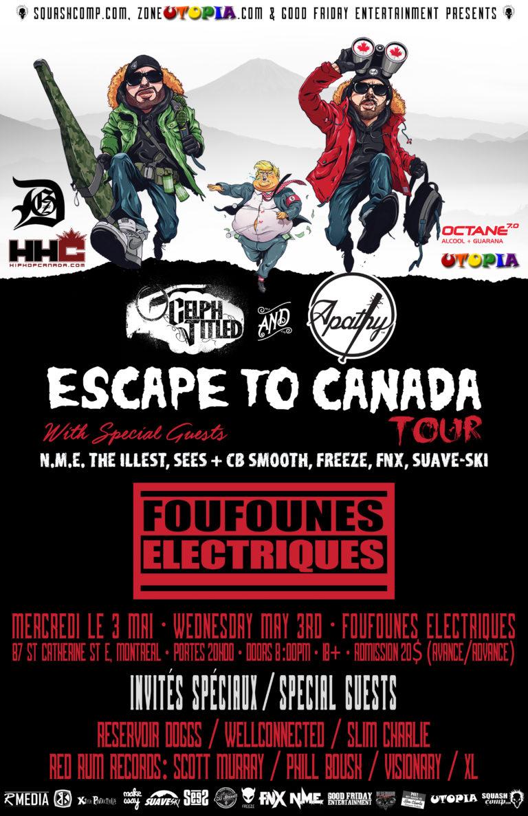 DEMIGODZ LIVE MONTREAL – APATHY & CELPH TITLED – ESCAPE TO CANADA TOUR Show