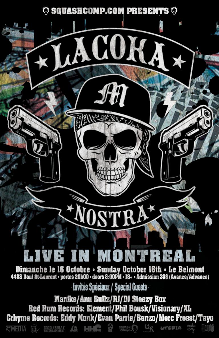 RED RUM RECORD X LA COKA NOSTRA LIVE À MONTRÉAL Show