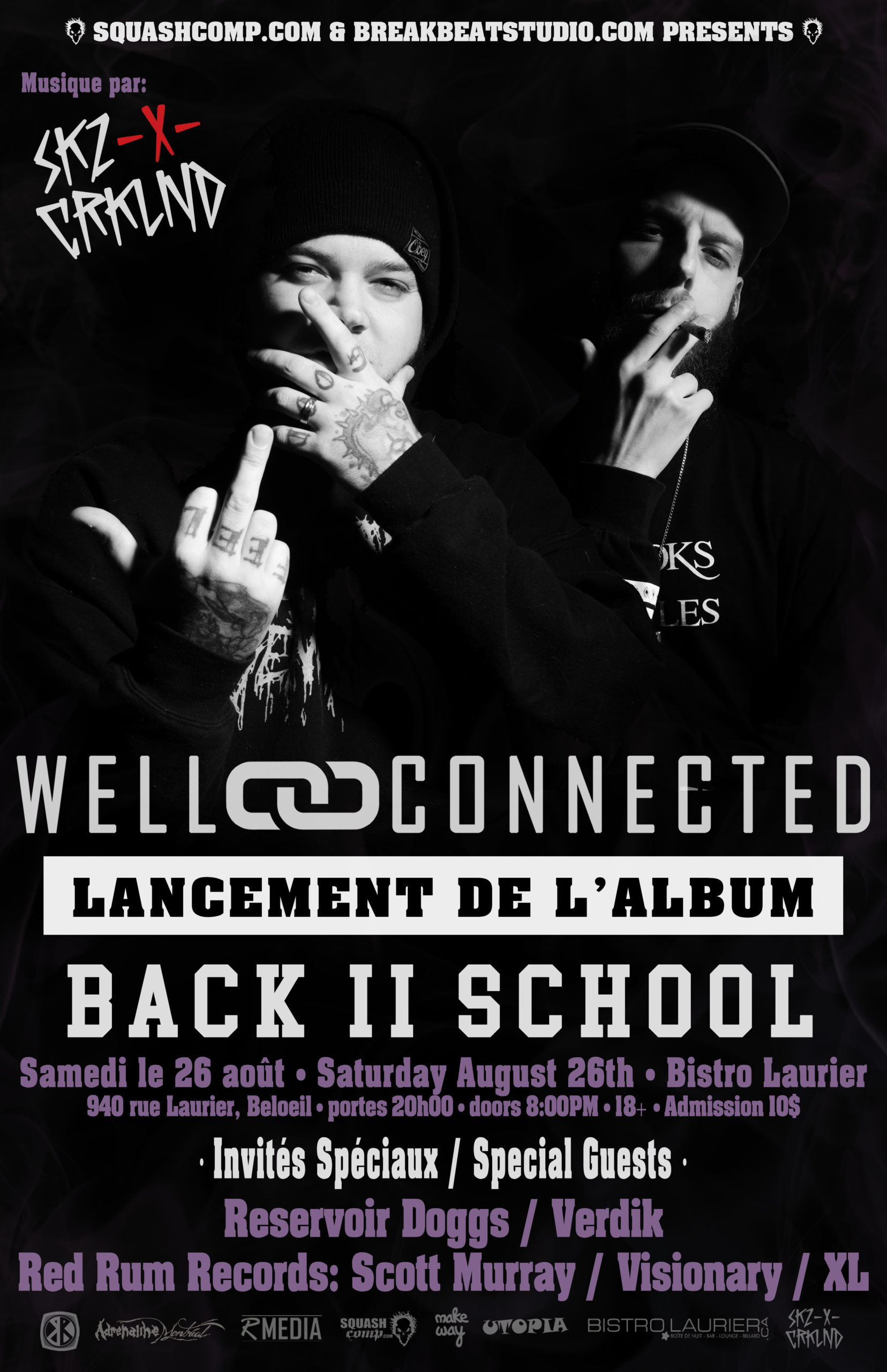 "WELLCONNECTED – LANCEMENT DE L'ALBUM ""BACK II SCHOOL""​ – LIVE À BELOEIL Show"